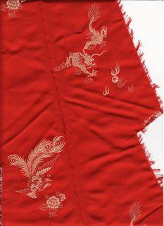 Scrap of Chinese silk
